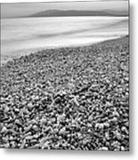 Little Stones At The Silver Sea Metal Print
