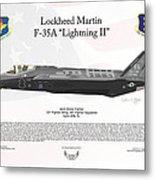 Lockheed Martin F-35a Lightning II Joint Strike Fighter Metal Print