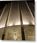 Looking Up Founders Hall At Night Metal Print
