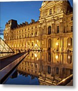 Louvre Reflections Metal Print by Brian Jannsen