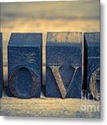 Love In Printing Blocks Metal Print