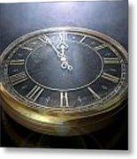 Macro Antique Watch Midnight Metal Print