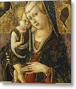 Madonna And Child Metal Print by Carlo Crivelli