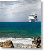 Majesty Of The Seas At Coco Cay Metal Print