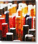 Many Wine Bottles Painting Metal Print by Magomed Magomedagaev