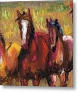 Mares And Foals Metal Print