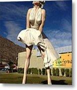 Marilyn In Palm Springs Metal Print
