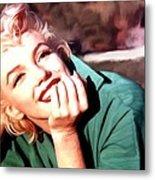 Marilyn Monroe Large Size Portrait Metal Print