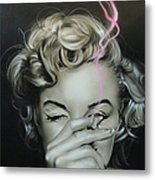 Marilyn's Crimson Haze Metal Print