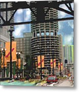 Marina Towers -chicago Metal Print