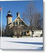 Mcgulpin Point Lighthouse In Winter Metal Print
