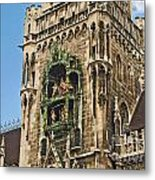 Mechanical Clock In Munich Germany Metal Print