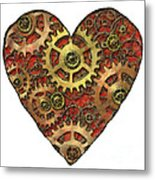 Mechanical Heart Metal Print