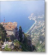 Mediterranean Below Eze 2 Metal Print
