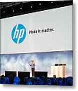 Meg Whitman At Hp Discover 2012 Metal Print