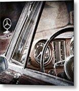 Mercedes-benz 250 Se Steering Wheel Emblem Metal Print