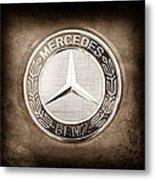 Mercedes-benz 6.3 Amg Gullwing Emblem Metal Print
