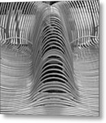 Metal Strips In Black And White Metal Print