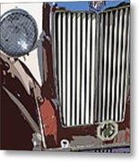 Mg Grille Abstract Metal Print