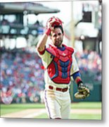 Miami Marlins V Philadelphia Phillies 2 Metal Print