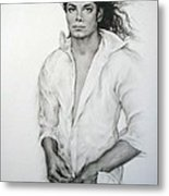 Michael Jackson Metal Print by Guillaume Bruno