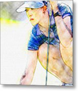 Michelle Wie - Third Round Of The Lpga Lotte Championship Metal Print