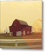 Michigan Barn Metal Print