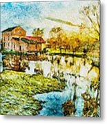 Mill By The River Metal Print