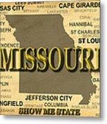 Missouri State Pride Map Silhouette  Metal Print