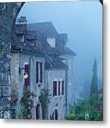 Misty Dawn In Saint Cirq Lapopie Metal Print
