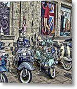 Mod Scooters And 60s Fashion Metal Print