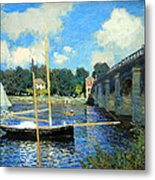 Monet's The Bridge At Argenteuil Metal Print