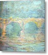 Monet's Waterloo Bridge In London At Sunset Metal Print