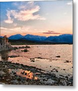 Mono Lake Sunset Metal Print