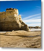 Monument Rocks Of Kansas Metal Print