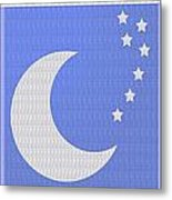 Moon And Stars With Crystal Stone Healing Energy Plates By Side Navinjoshi Rights Managed Images For Metal Print