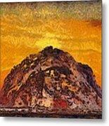 Morro Rock 3007 Metal Print