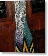 Mosaic Pillar Metal Print by Charles Lucas