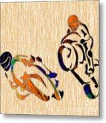 Motorcycle Racing Metal Print