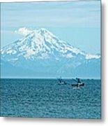 Mount Redoubt Across Cook Inlet From Ninilchik-ak   Metal Print