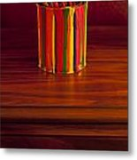 Multi Colored Paint Brushes Metal Print