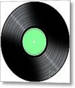 Music Record Metal Print