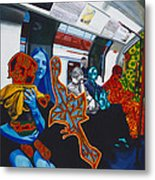 Mutinous Objects Gather In Darkness. The Underground Metal Print