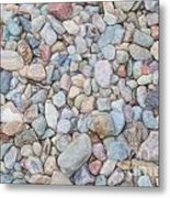 Natural Rock Pebble Backgorund Metal Print