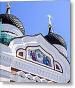Nevsky Cathedral - Tallin Estonia Metal Print