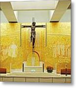 New And Modern Cathedral Of Fatima Metal Print