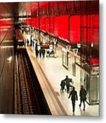 New Hafencity Station In Hamburg Metal Print
