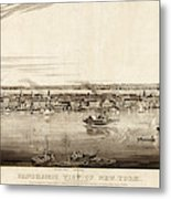 New York City, 1840 Metal Print