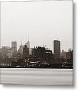 New York City Silhouette Metal Print