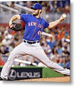 New York Mets V Miami Marlins Metal Print